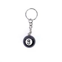 Schlüsselanhänger- 8 Ball Billiardkugel