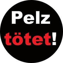 Pelz tötet! - Button