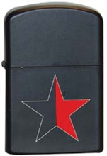 Schwarz/Roter Stern - Sturmfeuerzeug