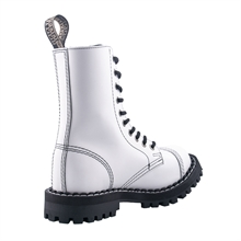 Steel - Full White, 10-Loch Boots